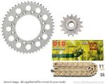 Steel Sprockets and Gold DID X-Ring Chain - Suzuki SV 650 without ABS (2008-2015)